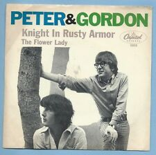 """PETER & GORDON - CAPITOL 5808 """"KNIGHT IN RUSTY ARMOR""""  45/PS SHIPS FREE"""