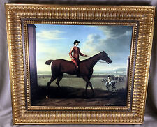 Large Antique Oil Painting Framed Print John  Wootton Horse Georgian Equestrian