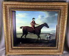 Large Antique Oil Painting Framed Print John  Wootton Horse Georgian Equestrian