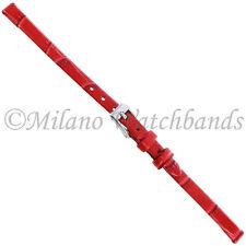 6mm Morellato Alligator Grain Genuine Leather Red Ladies Watch Band Strap 2860
