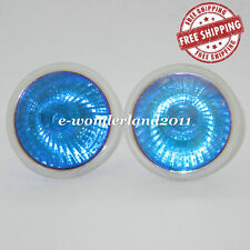 NEW 2 X Halogen MR16 GU5.3 12V 50W Light Globes Bulb Downlight BLUE