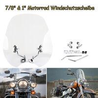 """Universal 7/8"""" & 1"""" Motorrad Windschutzscheibe Windschutz Lenker Für Harley"""