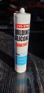 Evo-Stik Trade Building Silicone Grey 280ml Waterproof Interior Exterior New