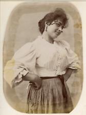P. Esposito e F. Achille, Napoli, Costumi Vintage albumen print. Tirage albumi