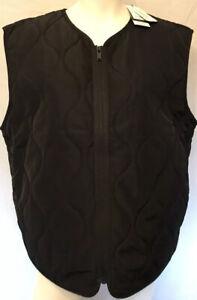 Burton Black Menswear Quilted Under Jacket Gilet Size XL
