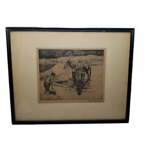 Antique Old Etching By George Hausdorf