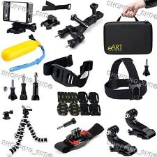 Gopro Accessories Kit Mount for Hero 4 3 3+ Black/Silver Camera 28 in 1 Bundle