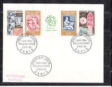 ec64/ Enveloppe  1er jour  la bande Philatec 64    Paris   1964