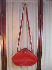 V R Classic Decorative Designed Double Snap Locking Red Shoulder Bag