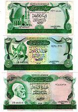 LOT SET SERIE Libye Libya Billet 1 & 5 & 10  Dinars ND 1980 SERIE 2 XF / AU