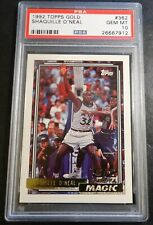 1992 SHAQUILLE O'NEAL TOPPS GOLD ROOKIE #362 PSA 10 HOF MAGIC CENTERED (912)