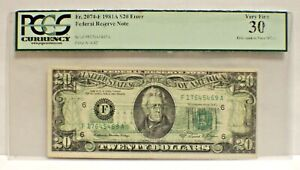 Fr#2074-A PCGS 30  $20 1981A FRN ERROR  CHOICE 30