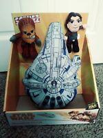 Star Wars Scenez Plush Chewbacca Han Solo Millennium Falcon