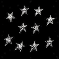 10Pcs Star Rhinestone Flat Back Buttons Brooch Embellishment Craft Hair DIY