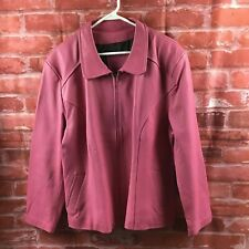 Women's Pink Spanish Leather Jacket Lo-Fs Creaciones Made In Mexico Lined Sz 40
