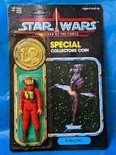 🔴⚫ Vintage Star Wars B WING PILOT MOC 92 back Kenner 1984 POTF 🔴⚫