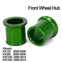 Front Wheel Hub Spacers Bearings for Kawasaki KX125    06-08 KX250 KXF250 KXF450