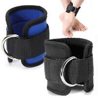 Gym Exercise Ankle Straps Weight Lifting Fitness D Ring Cable Attachment Strap Q