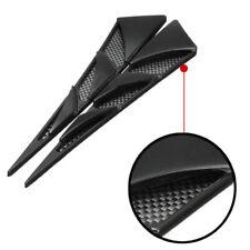 1Pair Car Decor Air Flow Intake Scoop Bonnet Simulation Vent Cover Hood Black