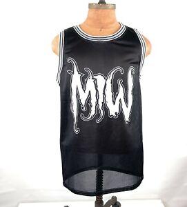 Motionless In White Basketball Jersey Black 666 Band Merch Metal Shirt Silence