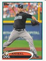 Anibal Sanchez 2012 Topps Series 1 #157 Miami Marlins baseball card
