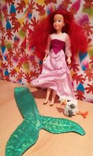 Rare Vintage Disney Little Mermaid Doll Barbie Dress And Shiny Tail 90s retro