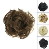 As Human Real Messy Rose Bun Curly Easy-To-Wear Stylish Hair Piece Scrunchi Top