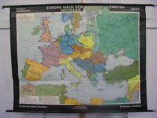 Scheda crocifissi Muro Mappa Europa dopo 2.wk Mappa Europe after ww2 Map 190x146cm