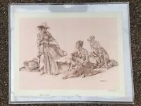 Sir William Russell Flint, Three Spanish Girls Collotype Print Pencil Signed