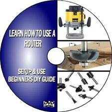 LEARN HOW TO USE ROUTER EASY TO FOLLOW BEGINNER GUIDE WOODWORK ROUTING VIDEO DVD