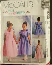 McCalls Special Moments pattern 9230 Girls special occasion Dress sz 4,5,6 uncut