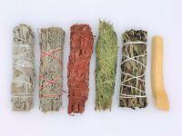 6X:Sage Smudge Stick Sampler: White, Blue, Dragons Blood, Cedar, Yerba, Palo