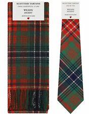 Wilson Antiker Tartan Lambswool Schal & Krawatte Geschenkset