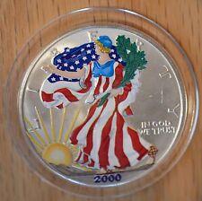 2000 - Silver Eagle - Fully Colorized - Uncirculated - Box and COA- rare date