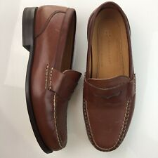 Rockport Penny Loafers Dress Shoes Size 8 W Brown Leather Slip On
