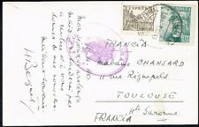 2331 SPAIN TO FRANCE CENSORED POSTCARD 1940 MADRID - TOULOUSE