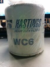Hastings WC6 Heavy Duty Oil Filter Truck Car Engine LOT OF 2 NEW FILTERS