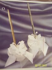 Butterfly White Jamie Lynn Wedding Party Deluxe Guestbook Pen Set 2 COLORS