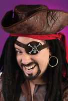 Pirate Kit Caribbean Eye Patch Earring Dress Up Halloween Costume Accessory