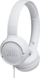 JBL TUNE T500 Weiss Kabelgebundener Kopfhörer Flachkabel Neu & OVP
