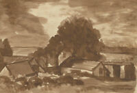 Alfred Henry Robinson Thornton NEAC (1863-1939) - Pen and Ink Drawing, Cottages