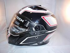 Casco, Helmet, Caberg Stunt Blade Negro-Blanco-Rojo T.M