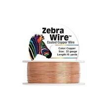 Zebra Coated Copper Wire Copper 22 Gauge 15 Yards