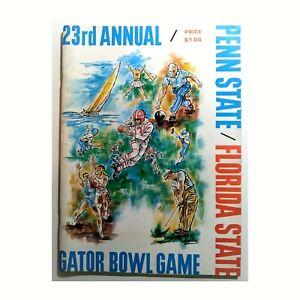23rd Gator Bowl Penn State vs FSU Seminoles NCAA Football Game Program 1967