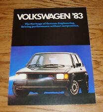Original 1983 Volkswagen VW Full Line Sales Brochure 83 Jetta GTI Vanagon
