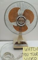 "Galaxy 2 Speed Oscillating Desk Fan Vintage Type 9 Style BL-CPS 12"" 8"" Blade"