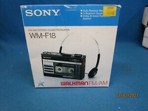 Sony Walkman FM/AM Stereo Cassette Player Working WM-F18 No Headphones In Box