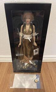 Franklin Mint Marilyn Monroe Porcelain Portrait Doll New Mint in Box w/ COA