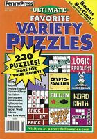 Penny Press Magazine Ultimate Favorite Variety Puzzles Logic Problems Word Math
