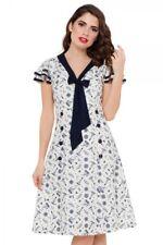 VOODOO VIXEN NWT Ivory Navy Sailor Rockabilly 40's Style Dress Pinup Girl XL